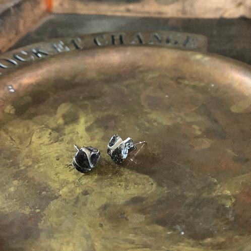 Agate Turritella Crystal Stud Earrings