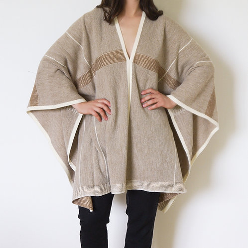Long Lines Poncho - Alpaca + Wool