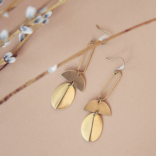 Myah | Brass Earrings