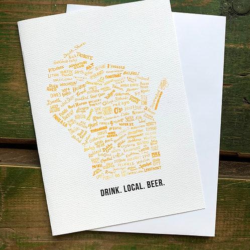 Drink Local Beer Greeting Card