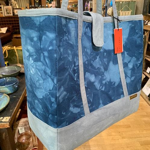 Cobalt + Sky Blue XL Canvas Tote Bag