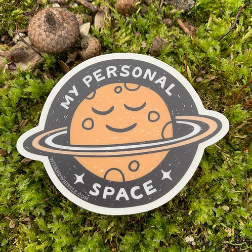 My Personal Space Sticker