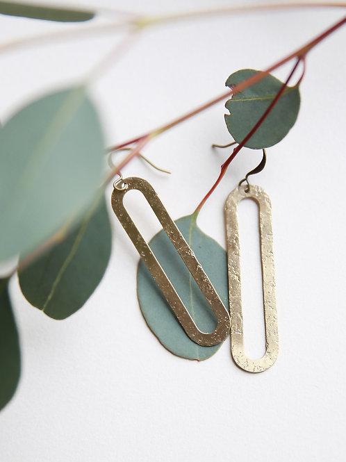 Ren   Long Oval Earrings