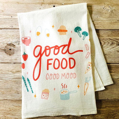 Flour Sack Towel - Good Food