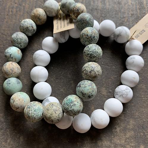 Infinite Warrior Matte Turquoise Bracelet