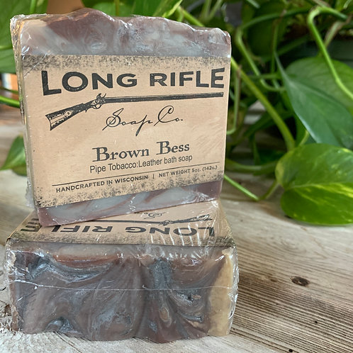 Brown Bess - Pipe Tobacco + Leather Bath Soap