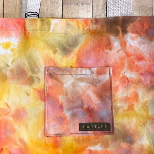 Marbled Shades of Citrus Shoulder Tote