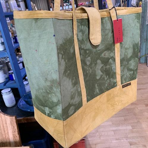 Green + Ochre XL Canvas Tote Bag