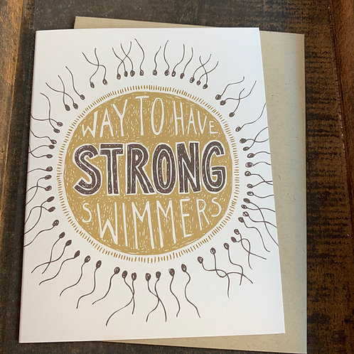 Strong Swimmers Card