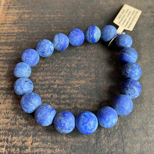 Infinite Warrior Matte Lapis Lazuli Bracelet