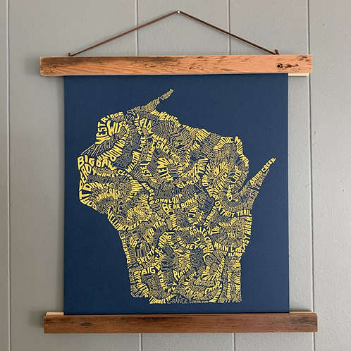 Hanging Print | Mountain Bike Trails of Wisconsin