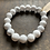 Thumbnail: Infinite Warrior Matte White Howlite Bracelet