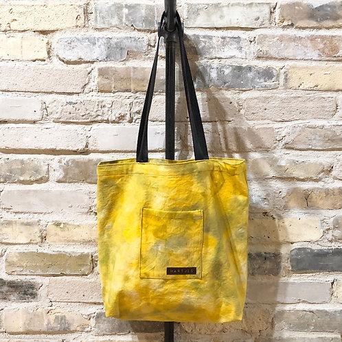 Yellow + Sage Shoulder Tote
