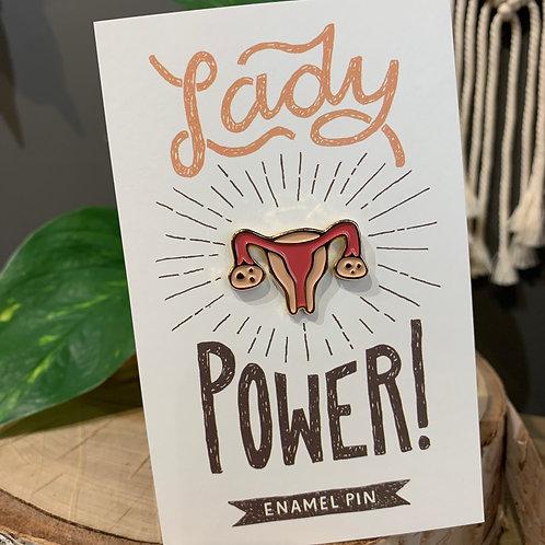 Lady Power Uterus Enamel Pin