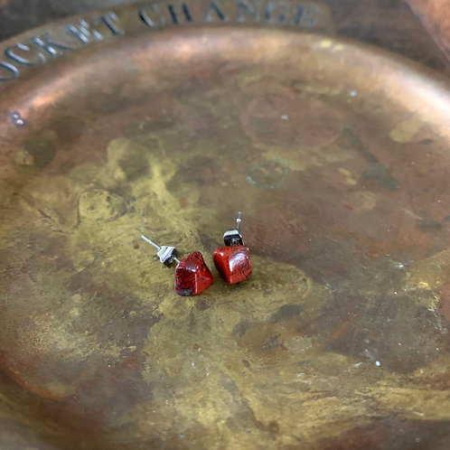 Brecciated Jasper Stud Earrings