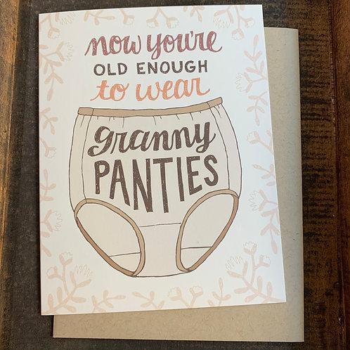 Granny Panties Birthday Card