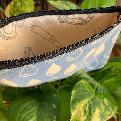 Women's Period Pouch - Blue Teardrops