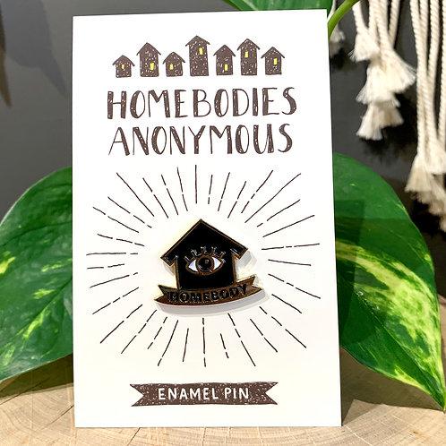 Homebody Enamel Pin