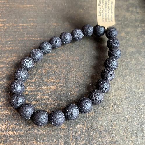 Infinite Warrior Lava Rock Diffuser Bracelet