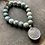 Thumbnail: Infinite Warrior Matte African Turquoise Bracelet + Vintage Silver Coin