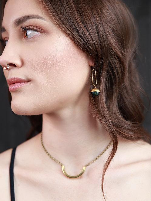 Coco | Green Onyx Earrings