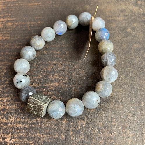 Infinite Warrior Labradorite Bracelet with Pyrite