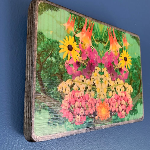 Wisconsin Native Flowers Collage Wall Art