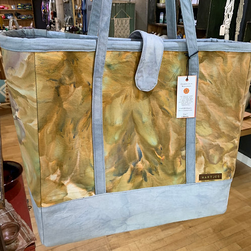 Marbled Multi-Colored XL Canvas Tote Bag