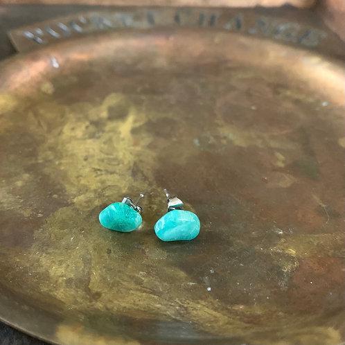 Amazonite Stud Earrings
