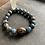 Thumbnail: Infinite Warrior Light Denim Quartz + Tiger Eye Bracelet