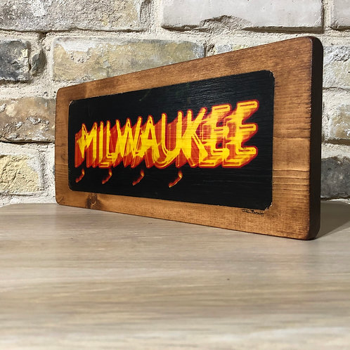 Milwaukee Sign Original Wall Art