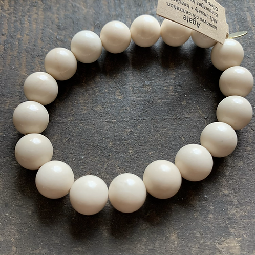 Infinite Warrior Cream Fossil Agate Bracelet