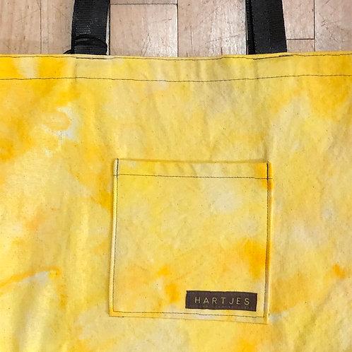 Lemon Yellow Shoulder Tote