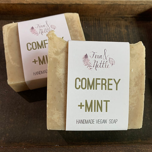 Comfrey + Mint Handmade Bar Soap