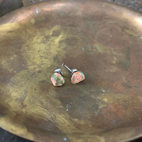 Unakite Stud Earrings