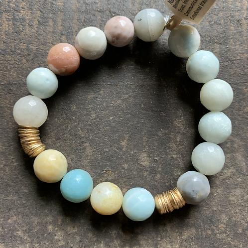 Infinite Warrior Amazonite  + Brass Bracelet
