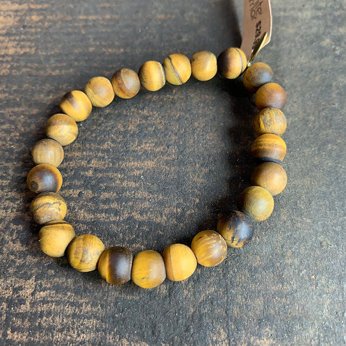 Infinite Warrior Matte Tiger Eye Bracelet