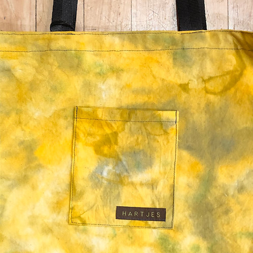 Yellow + Sage Shoulder Tote
