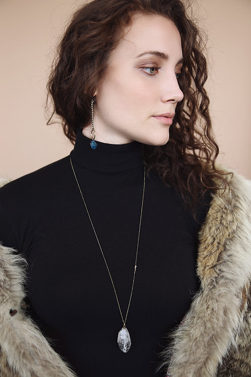 Audra | Tourmalinated Quartz Necklace