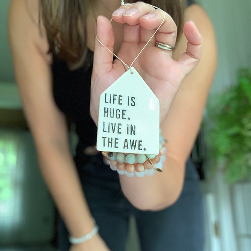 Porcelain Wall Tag - Life is Huge