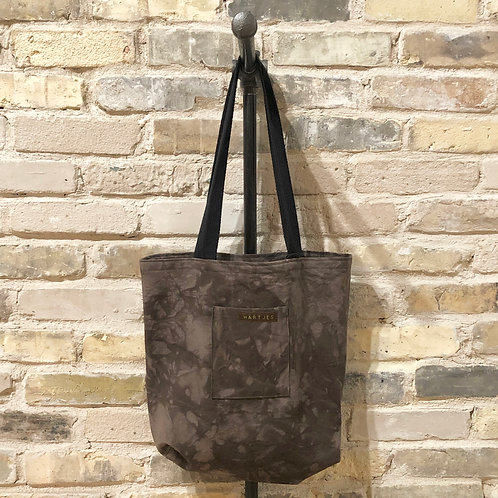 Deep Eggplant Marbled Shoulder Tote