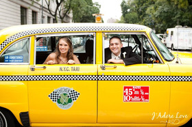 vintage cab, edison ballroom wedding, nyc wedding planner, new york wedding planner