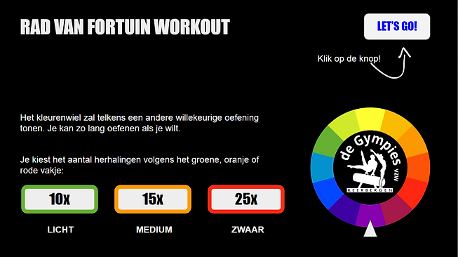 Gympies Rad van fortuin Workout