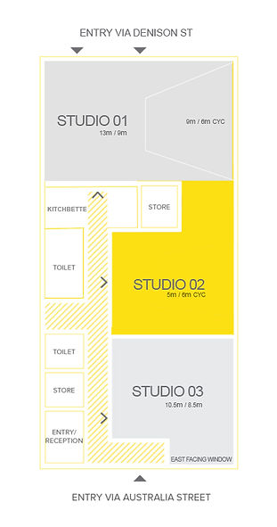 Sydney CYC photography studio for hire, daylight photo studio