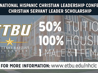 East Texas Baptist University announces new NHCLC Christian Servant Leadership Scholarship