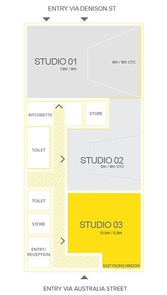 Sydney CYC photography studio for hire, daylight photo studio