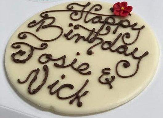"""""""Happy Birthday"""" Plaque"""