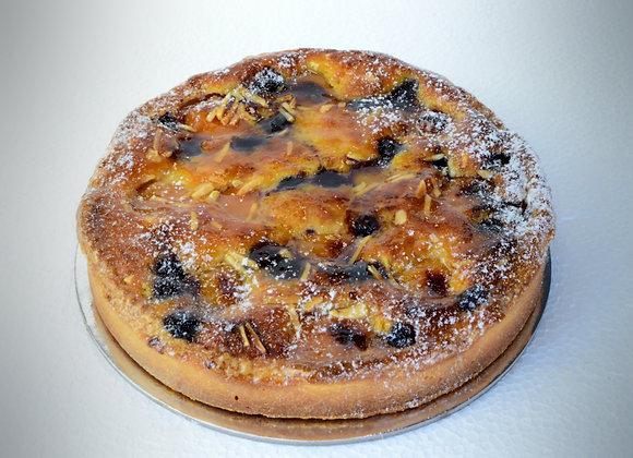 "Apricot Blueberry Amandine Tart 8"" (M)"