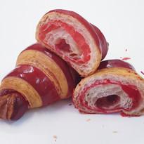 Bicolor Raspberry Croissants