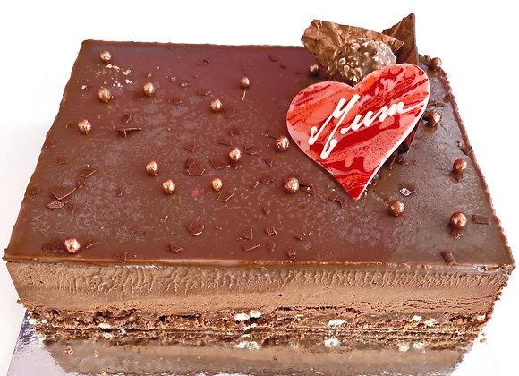 """Special Mother's Day Rocher Dark Choc Hazelnut Cake 6x8"""" (M)"""
